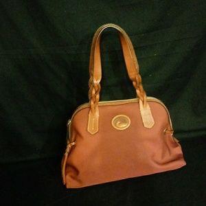 Dooney & Bourke Maroon Canvas purse